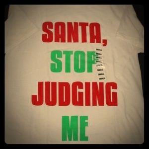 """Santa Stop Judging Me"" T-shirt"